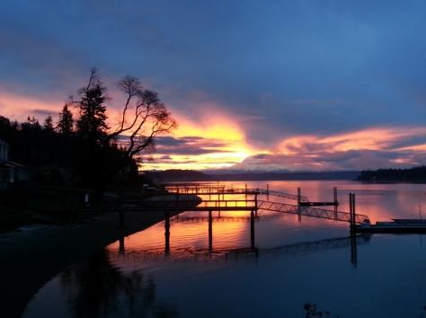 photo by Fred Plumer, Fox Island Sunrise
