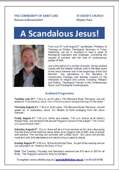 A Scandalous Jesus Flyer