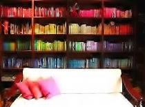 bookshelf - rainbow